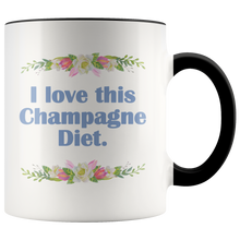 I Love This Champagne Diet 🥂 - Funny Girlfriends Coffee Mugs - Sarcastic Coffee Cup - Island Dog T-Shirt Company