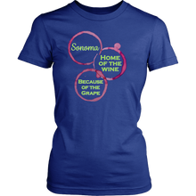 Sonoma - Home of the Wine Because of the Grape - California Wine Country Ladies Tee - Island Dog T-Shirt Company
