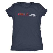 Frolic More - Women's Distressed Text Positive Vibes Ultra Comfort Tee - Island Dog T-Shirt Company
