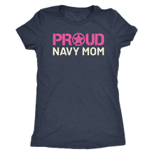Proud Navy Mom - Women's Ultra Soft Comfort Short Sleeve Tee - Mom's Military Pride Shirt - Island Dog T-Shirt Company