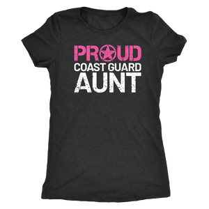 Proud Coast Guard Aunt - Women's Ultra Soft Comfort Short Sleeve Tee - Aunt's Military Pride Shirt - Island Dog T-Shirt Company