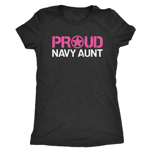 Proud Navy Aunt - Women's Ultra Soft Comfort Short Sleeve Tee - Aunt's Military Pride Shirt - Island Dog T-Shirt Company