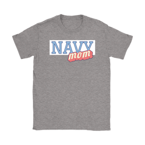 Navy Mom Tee - Mother of a Navy Sailor T-Shirt - Island Dog T-Shirt Company
