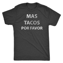 Men's Ultra Soft Comfort Short Sleeve Tee - Mas Tacos Por Favor - Guy's Foodie Shirt - Island Dog T-Shirt Company