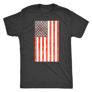 American Flag - Vintage Distressed US Flag - Men's Short Sleeve Ultra Comfort Tee - Island Dog T-Shirt Company