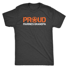 Proud Grandpa of a Marine T-Shirt - Men's Ultra Soft Short Sleeve Military Grandfather Tee - Island Dog T-Shirt Company