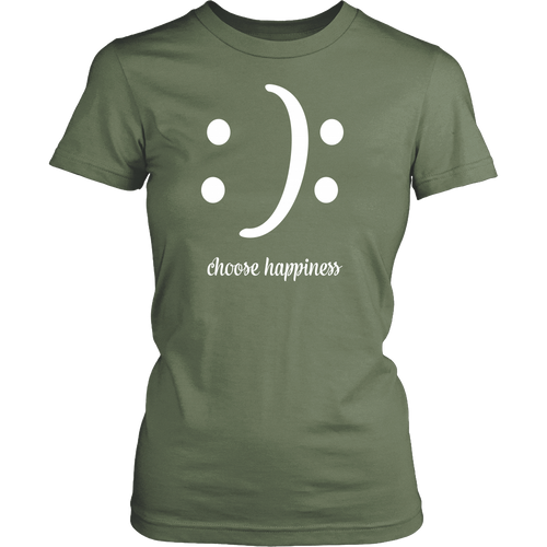 Women's Choose Happiness T-shirt - Island Dog T-Shirt Company