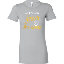 All I Need is Jesus & Hairspray T-shirt - Women's Funny Christian Tee - Island Dog T-Shirt Company
