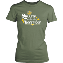 Queens are Born in December Birthday Gift Idea for Women - Island Dog T-Shirt Company