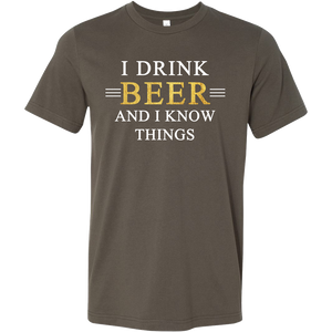 I Drink and I Know Things T-Shirt - Beer Drinker's Favorite Tee - Funny Beer T Shirt for Men - Island Dog T-Shirt Company