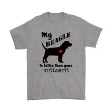 Beagle Apparel - My Beagle is Better than Your Unicorn - Funny Beagle T-Shirt for Men - Island Dog T-Shirt Company