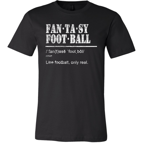 Fantasy Football Like Football Only Real Funny Fantasy Vintage Men's T-Shirt - Island Dog T-Shirt Company