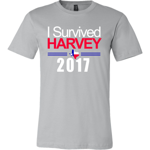 I Survived Harvey 2017 T-Shirt - Commemorative Texas Hurricane Tee - Island Dog T-Shirt Company