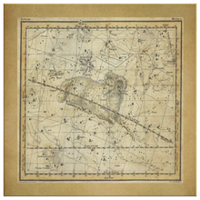 Vintage Zodiac Wall Art - Aries Constellation Maps - Constellation Canvas Art - Zodiac Statement Wall Decor - March April Horoscope Stars - Square Canvas - 4 Sizes - Square Canvas - Island Dog T-Shirt Company