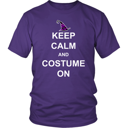 Keep Calm and Costume On - Funny Halloween Unisex Tee for Men & Women - Island Dog T-Shirt Company