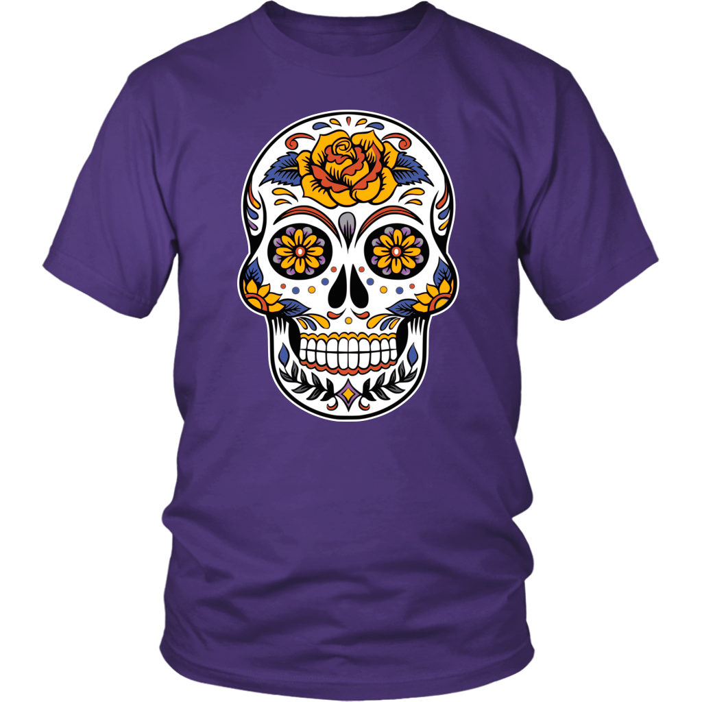 Dia de Los Muertos T-shirt for Men & Women - Halloween Skull Tee - Sugar Skull Tee - Island Dog T-Shirt Company