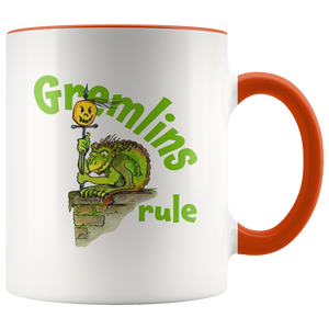 Gremlins Rule Funny Halloween Gargoyle Coffee Mug for Fall - Autumn Mug - Island Dog T-Shirt Company