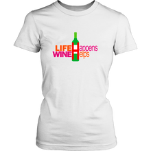 Life Happens Girlfriend T-Shirts for Women Funny Tees for Her Ladies Night Out - Island Dog T-Shirt Company