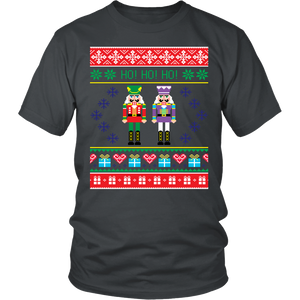 Ugly Christmas T Shirt for Men and Women - Unisex Holiday Party Nutcrackers Tee - Island Dog T-Shirt Company