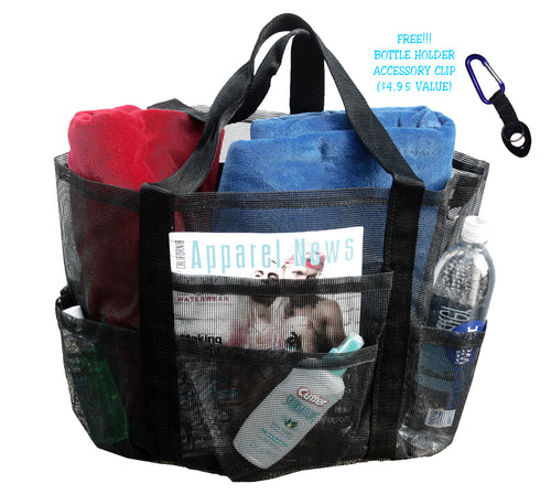 101SNORKEL Super Big Large Mesh Family Beach Bag Tote - 24 in x 16 in x 10 in