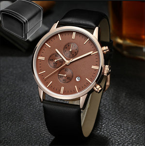 Bad Bones High-end  Mens Leather Wrist Watch