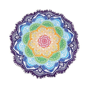 Bad Bones Java Beach Towel 1 Round Mandala Tassel Towel