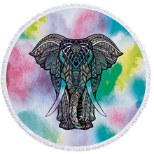 Bad Bones Java Beach Towel 3 Round Elephant Tassel Towel