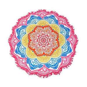 Bad Bones Java Beach Towel 4 Round Mandala Tassel Towel