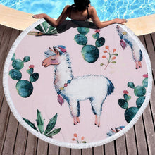 Bad Bones Java Beach Towel 4 Round Unicorn Tassel Towel