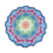 Bad Bones Java Beach Towel 5 Round Mandala Tassel Towel