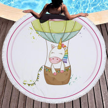Bad Bones Java Beach Towel 8 Round Unicorn Tassel Towel