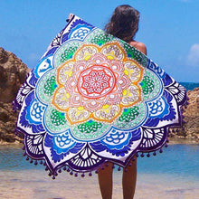 Bad Bones Java Beach Towel Round Mandala Tassel Towel