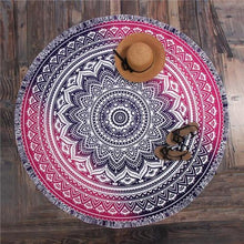 Bad Bones Java Beach Towel TL8 Round Peacock Mandala Towel