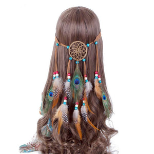 Peacock Feather Hippie Headdress | Hair Accessories | Bad