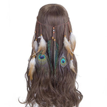 Bad Bones Java Hair Accessories #6 Peacock Feather Hippie Headdress