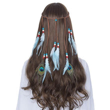 Bad Bones Java Hair Accessories #7 Peacock Feather Hippie Headdress