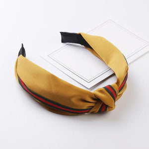 Bad Bones Java Hair Accessories Yellow Signature Satin Stripe Headband
