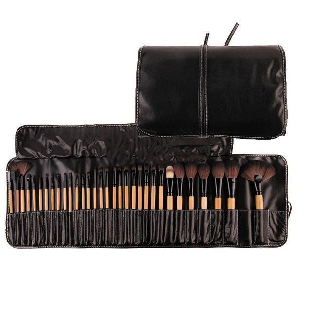 Bad Bones Java Makeup Wooden Professional Makeup Brush Set