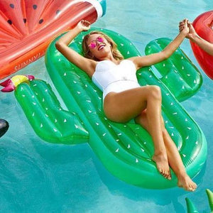 Bad Bones Java Pool Float Giant Inflatable Cactus Pool Floatie