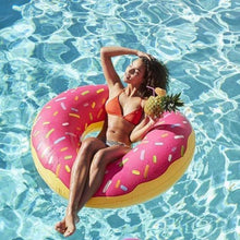 Bad Bones Java Pool Float Inflatable Donut Ring Pool Floatie