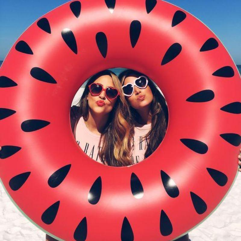 Bad Bones Java Pool Float Inflatable Watermelon Ring Pool Floatie