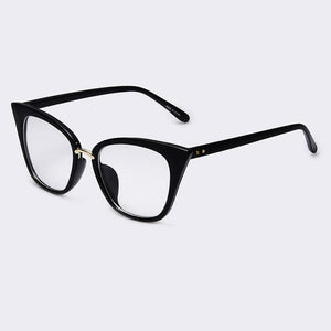Bad Bones Java Sunglasses Black Clear Slim Classic Cat Eye Sunglasses