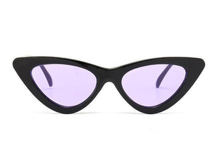 Bad Bones Java Sunglasses Black Purple Slim Vintage Cat Eye Sunglasses