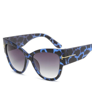 Bad Bones Java Sunglasses Blue Leopard Premium Designer Sunglasses