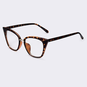 Bad Bones Java Sunglasses Brown Clear Slim Classic Cat Eye Sunglasses