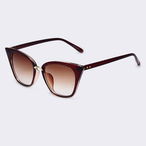 Bad Bones Java Sunglasses Brown Slim Classic Cat Eye Sunglasses