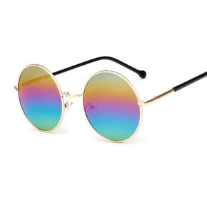 Bad Bones Java Sunglasses Colourful Round Mirrored Sunglasses