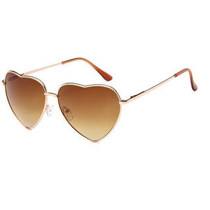Bad Bones Java Sunglasses Gold Double Tea Retro Heart Shaped Sunglasses