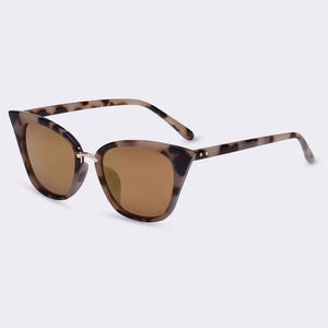 Bad Bones Java Sunglasses Gold Slim Classic Cat Eye Sunglasses