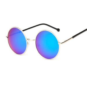 Bad Bones Java Sunglasses Green Round Mirrored Sunglasses
